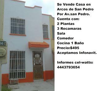 Venta de Casas Y Departamentos En S.L.P.: Se Vende Casa en Fracc. Arcos de San Pedro. En San...