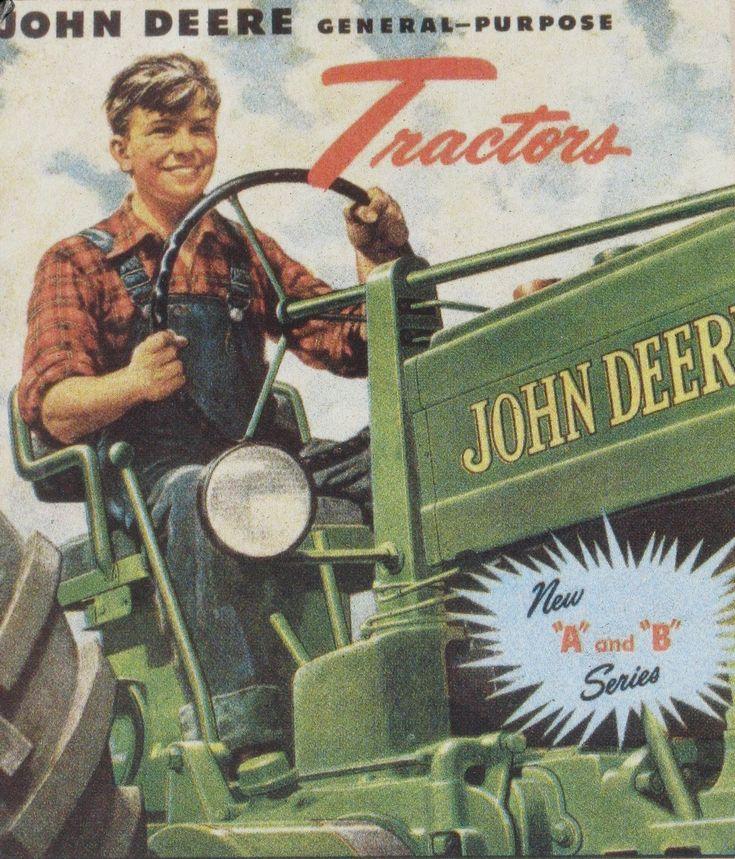 John Deere general purpose vintage poster A and B series