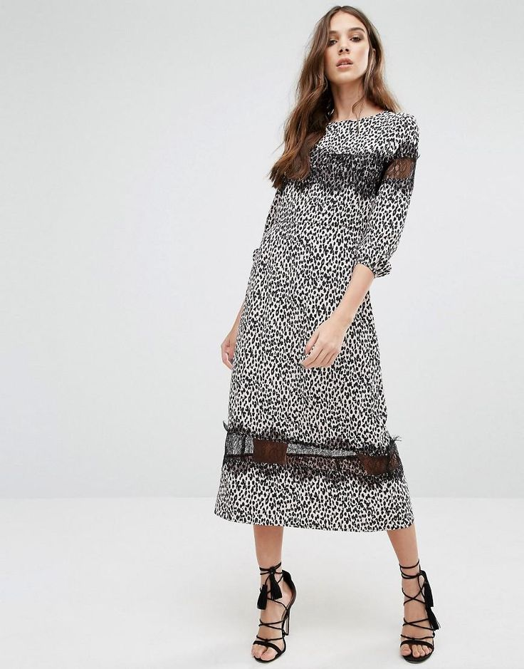 Millie Mackintosh | Millie Mackintosh Leopard Print Midi Dress at ASOS