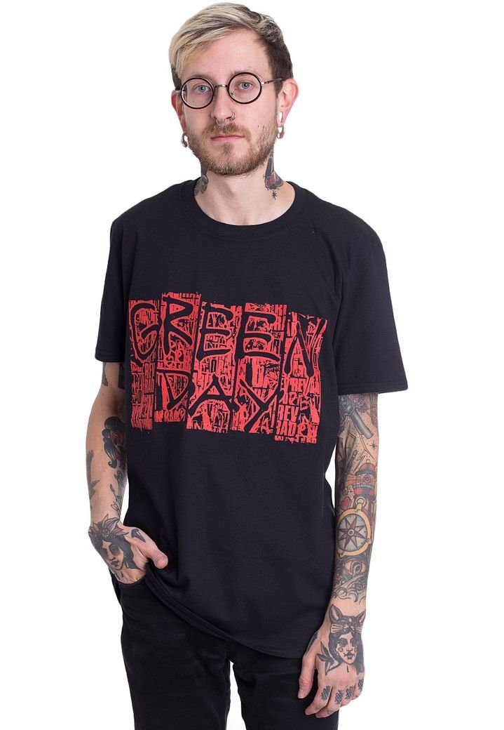 Order Green Day - GD Mural - T-Shirt by Green Day for £17.99 (9/27/2017) at the Impericon UK  online shop for an affordable price.