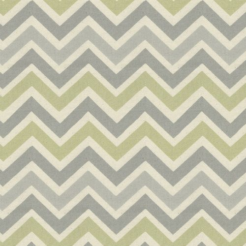 Gray and Reed Chevron Fabric by the Yard | Carousel Designs //--I'd like to see this wrapped around a canvas and used as big wall art.