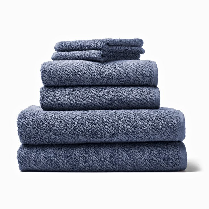 The luxurious bath towels are specially woven from 100% organic cotton here in California for softness and drape. A rolled hemp helps the towel hold its shape wash after wash.