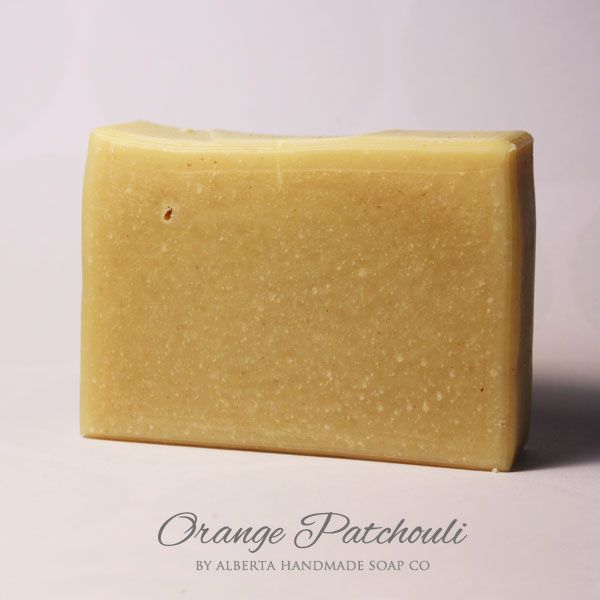 Orange Patchouli #HandmadeSoap Sweet Orange Essential Oil is grounded by the hint of earthy Patchouli Essential Oil. #SkinCare #AlbertaHandmadeSoapCo $6.99