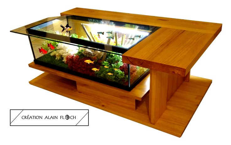 Table basse aquarium AMAZONE SUPREME