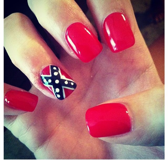 20 ide rebel flag nails terbaik di pinterest camo nail art ide rebel flag nails redneck chic these are soo awesome i love these prinsesfo Image collections