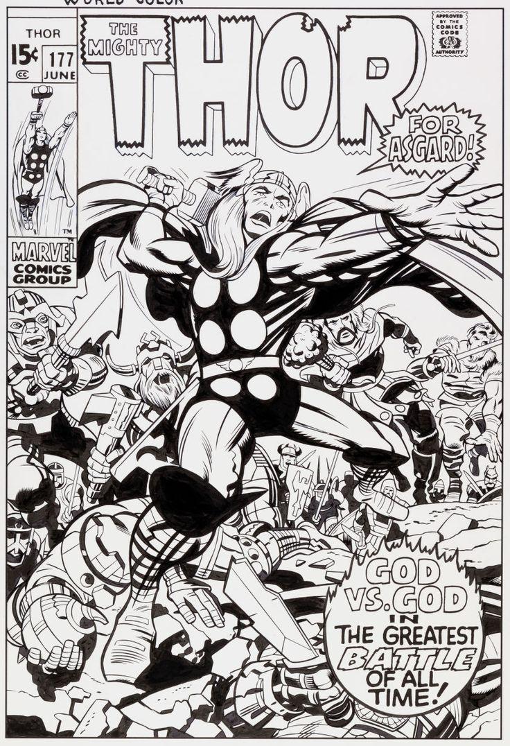 Original Comic Book Cover Art : Original comic art covers thor cover recreation