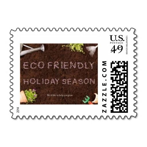 Eco Friendly Holiday Season Postage Stamp | www.zazzle.com/midnightgraffiti