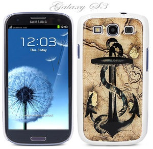 Yeah buddy!!  White Snap on Samsung Galaxy S3 Phone Cover Case Anchor Vintage Map Logo Design   eBay