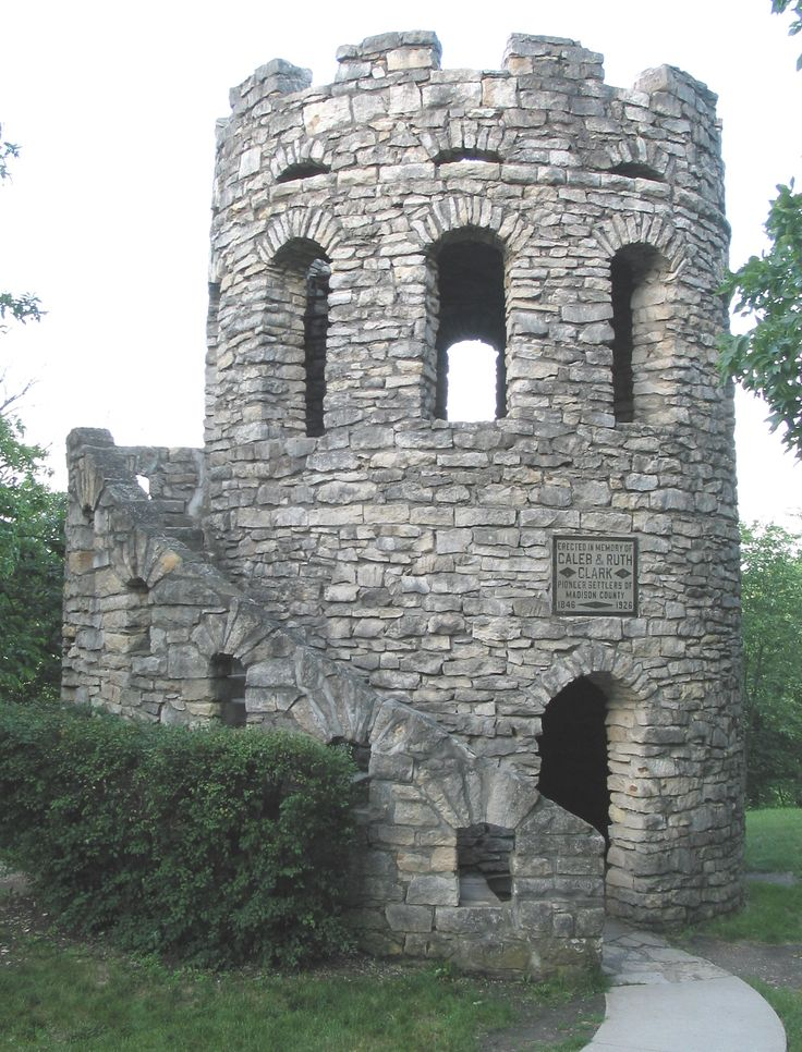 Clark Tower in Winterset City Park. Winterset, Iowa - worth the long narrow drive up to see this. Friends from church got engaged here