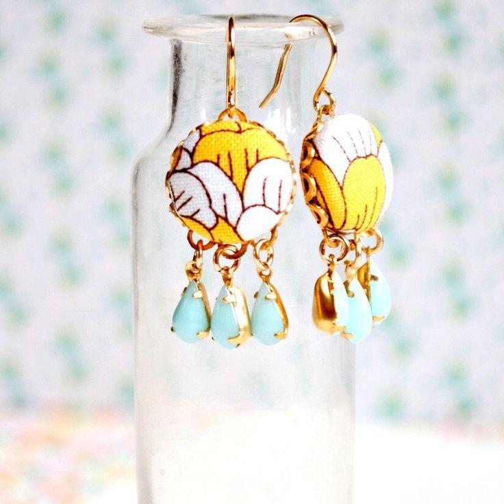 Little Yellow Chandelier Earrings by NestPrettyThingsShop on Etsy https://www.etsy.com/listing/150040144/little-yellow-chandelier-earrings