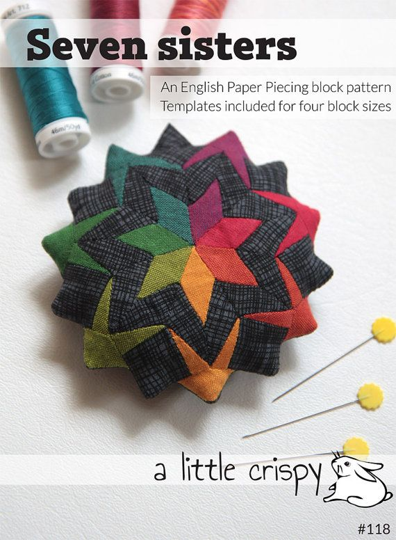 English paper piecing (EPP) is so perfect for those of us that have trouble sitting still with idle hands! It's very portable, uses very little mental energy, and it's easy to pull out when you have a spare moment. Think about all the time you spend sitting in meetings, waiting for appointments, watching kids' activities, riding in the car, buses, trains, or airplanes, or even just vegging out in front of the TV in the evening. I know sometimes I just don't want to drag out a big project…