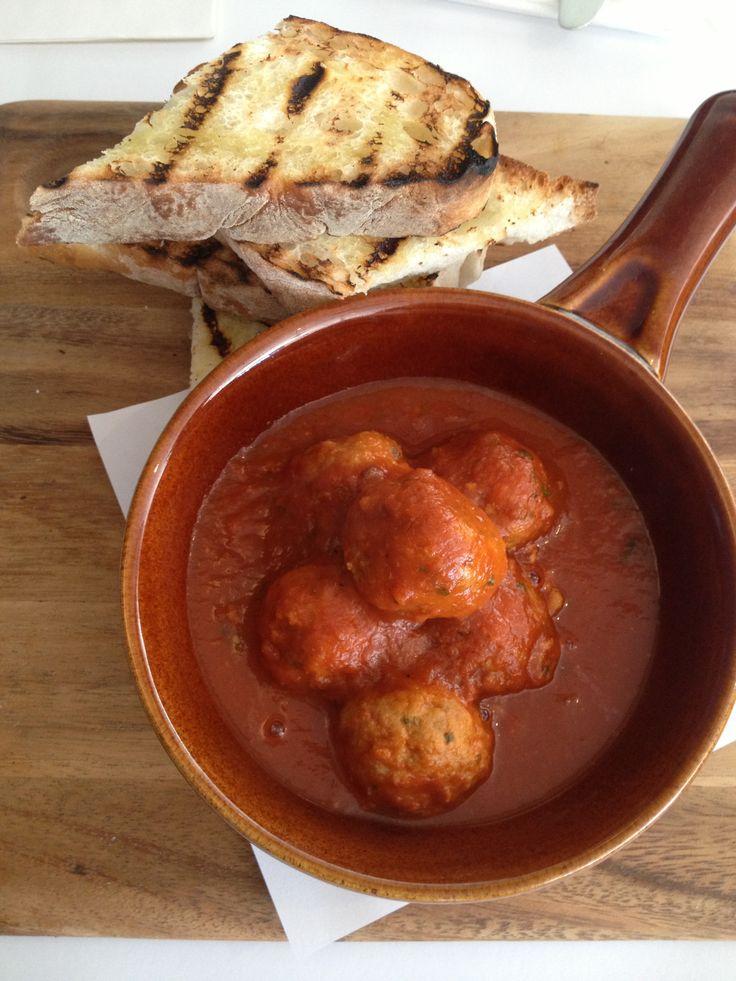 Mamma's Italian meatballs at Stella Blu Dee Why
