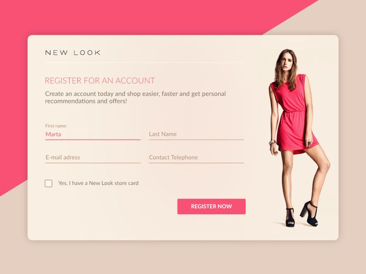 Sign Up for New Look