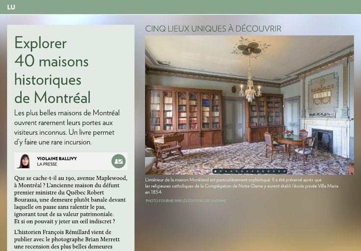 Explorer 40 maisons historiques de Montréal - La Presse+