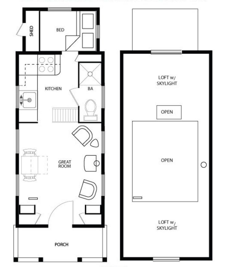 Astounding 17 Best Ideas About Tiny Houses Floor Plans On Pinterest Tiny Largest Home Design Picture Inspirations Pitcheantrous