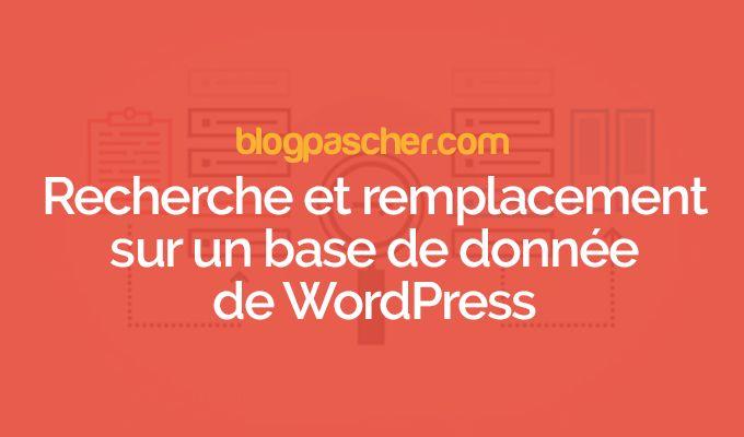 Comment rechercher et remplacer un texte sur votre base de données WordPress - Est-ce que vous souhaitez rechercher et remplacer un terme dans la base de données de votre blog WordPress ? Que vous souhaitiez trouver et remplacer un texte spécifique, une URL, ou une image, vous pouvez facilement le faire en utilisant plugin de recherche et de remplacement WordPress ou avec u... - https://blogpascher.com/plugins-wordpress/comment-rechercher-et-remplacer-un-texte-sur-votre-ba