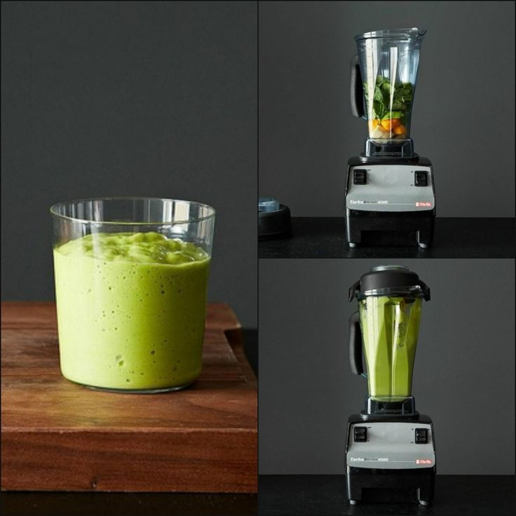 Green smoothie with avocado, spinach, mango, bananas...and best of all no dairy.