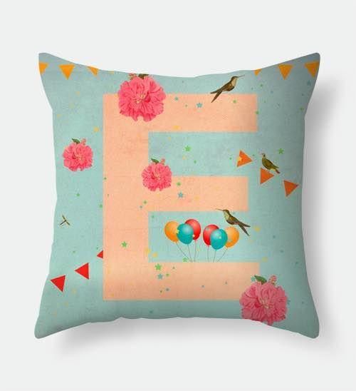 Letter E pillow