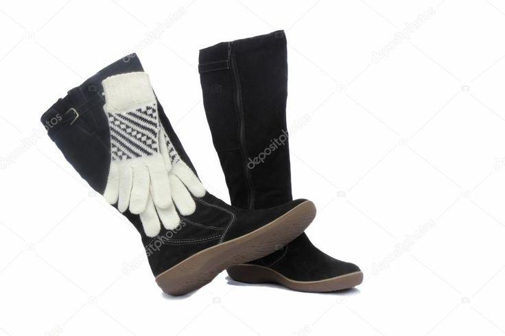 Schön schwarze damen boots