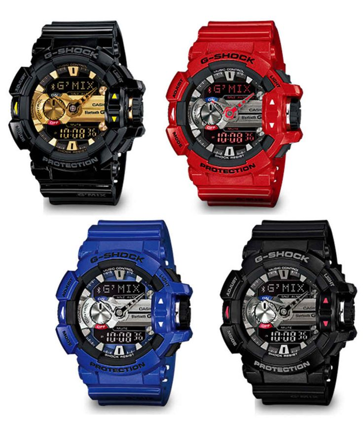 Casio G-Shock G'MIX GBA-400 Watch - Bluetooth Link with Smartphone Control - Freshness Mag