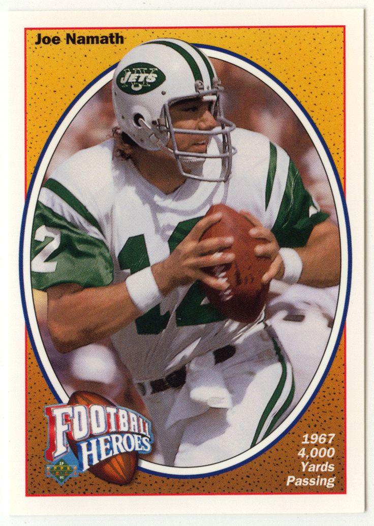 Joe Namath # 12 - 1991 Upper Deck Football Joe Namath Heroes