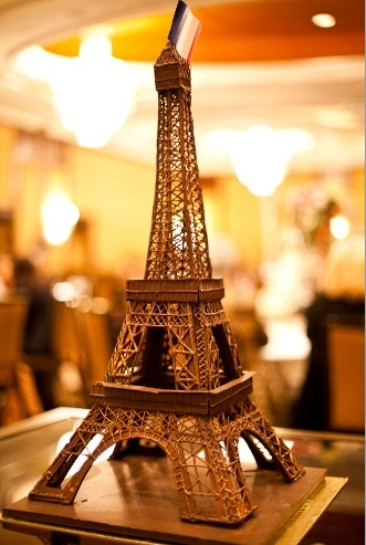 L'Heure du Thé event in 2011. Chocolate Eiffel Tower by Pierrick Boyer