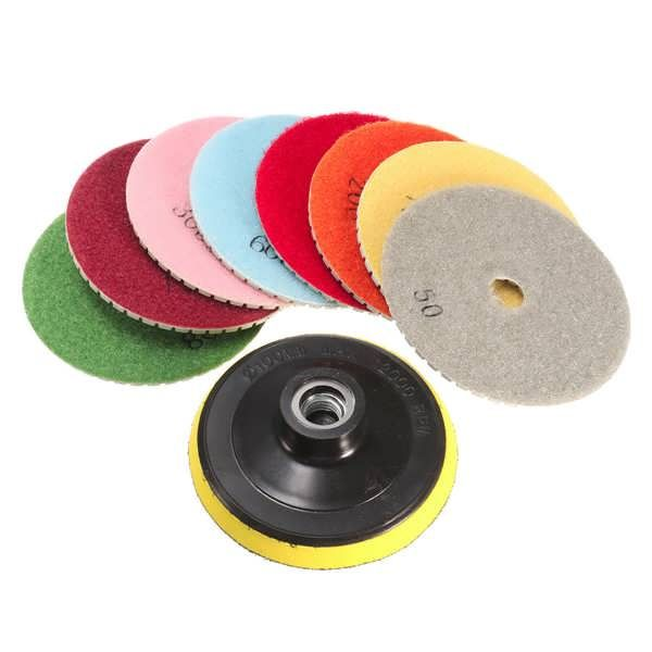 9pcs 4 Inch 50 to 6000 Grit Diamond Polishing Pads for Granite Marble Polish  Worldwide delivery. Original best quality product for 70% of it's real price. Buying this product is extra profitable, because we have good production source. 1 day products dispatch from warehouse. Fast &...