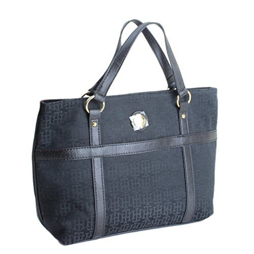 Tommy Hilfiger Small Shop II Tote Handbag  Black * You can find out more details at the link of the image.