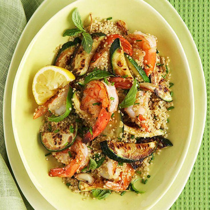 Herbed Quinoa with Shrimp and Zucchini - Fitnessmagazine.com