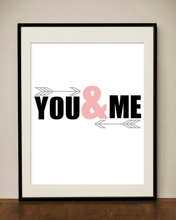 You and Me poster  Great for Valentine by classicology on Etsy, $5.00