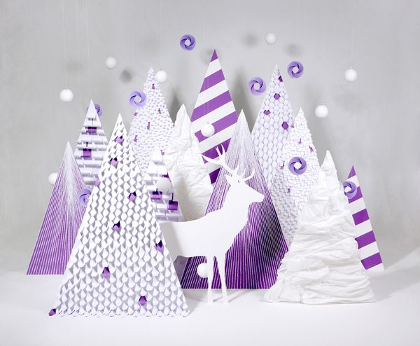 Purple Wishes by Zim And Zou , via Behance @popup @christmascard
