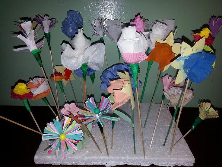 papírové květiny 2016
