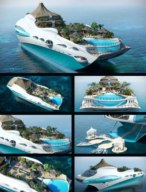 An 'island yacht'   Shoot... this is amazing.