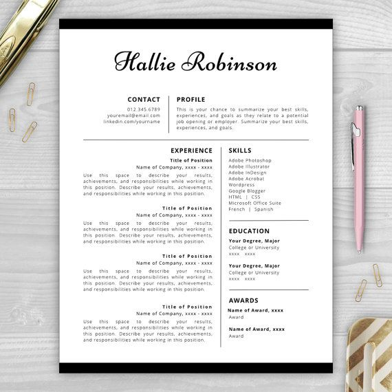 10 Best Professional Resume Templates Images On Pinterest | Cover