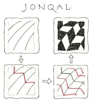 Jonqal instructions Zentangle newsletter January 2008