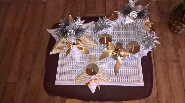 Vánoční sada, adventní věnec, dekorativní hvězda, hvězda svícen.