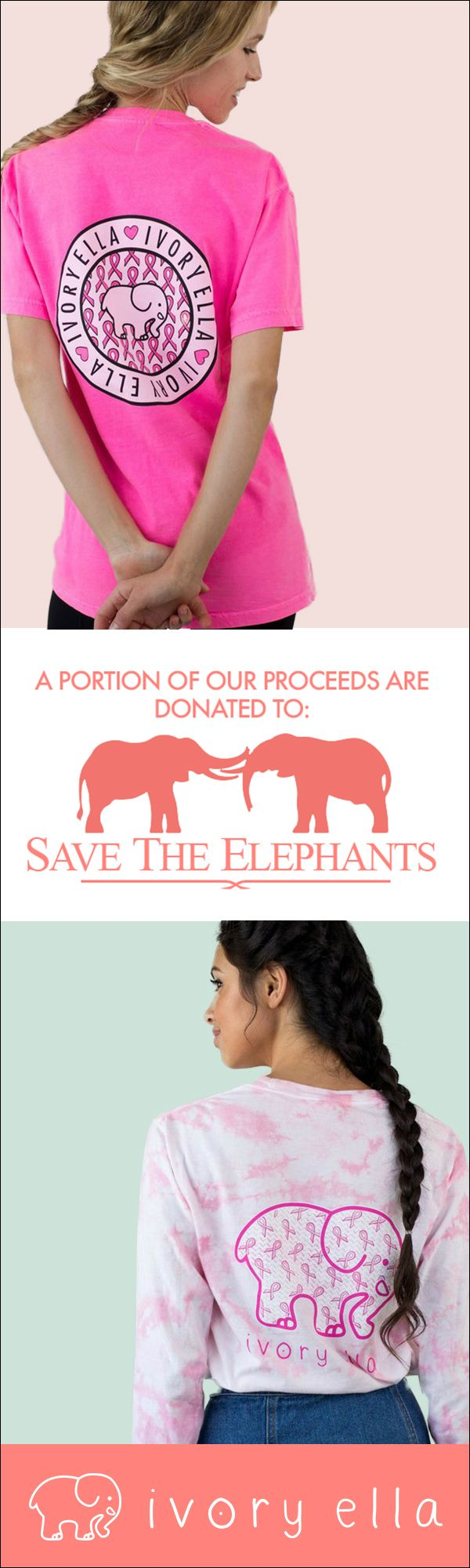 Check out our t-shirt collections and help support Save the Elephants with every purchase. Screen-printed in America.