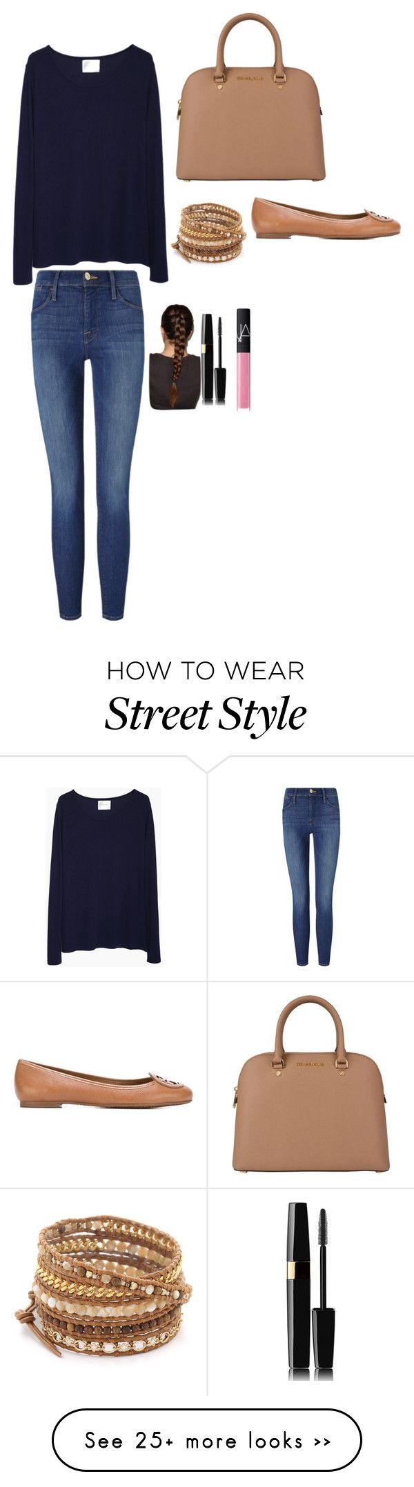 """""""Untitled #85"""" by lalmosawi on Polyvore featuring La Garçonne Moderne, Frame Denim, Tory Burch, Chan Luu and NARS Cosmetics"""