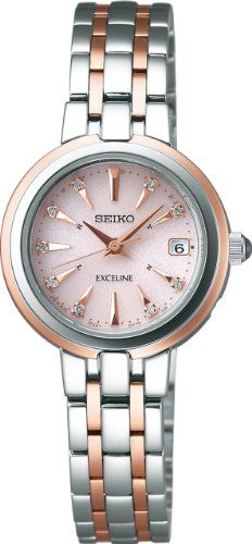 SEIKO Ladies Watch EXCELINE Solar radio modified super clear coating for everyday life waterproof (10 atm) SWCW018 *** Be sure to check out this awesome product.