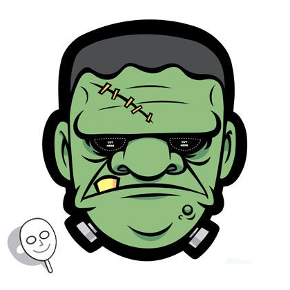 Frankenstein Mask | Printables | Spoonful