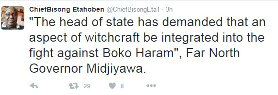 Cameroon President Biya Approves Use Of Witchcraft To Fight Boko Haram ~ News World Updates