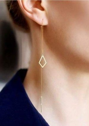 Handmade goldplated earrings - Dutch Basics - Sustainable luxury at Just Fashion