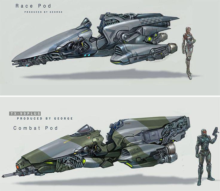 Spaceship Concept  8  (see more on http://www.tranchesdunet.com/illustrations-de-vaisseaux-spatiaux-concept/ )