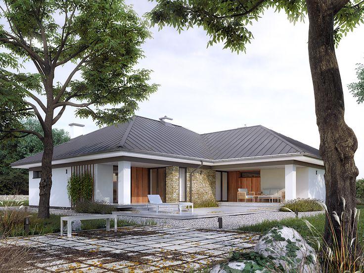 Feniks 2 (139,09 m2) to parterowy projekt domu z garażem 2-stanowiskowym. Pełna prezentacja projektu dostępna jest na stronie: https://www.domywstylu.pl/projekt-domu-feniks_2.php #feniks2 #domywstylu #mtmstyl #projekty #projektygotowe #dom #domy #projekt #budowadomu #budujemydom #design #newdesign #home #houses #architecture #architektura