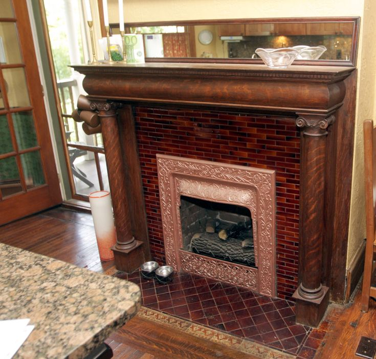 35 best images about tiled fireplaces on pinterest for Prairie style fireplace