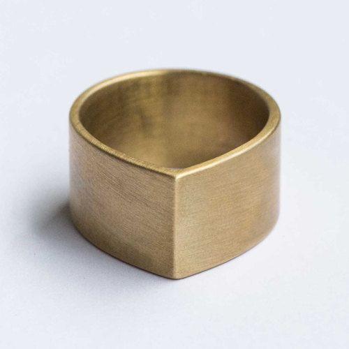 white bronze + brass ring