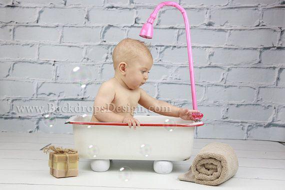 Baby Girls Bathtub 6 Months Baby Photography Newborn
