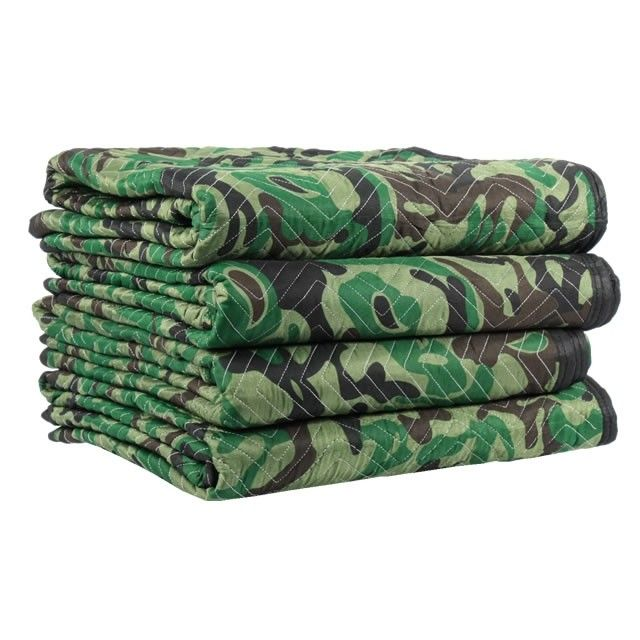 Camouflage Moving Blankets are great for hunters, cabins, or other earth friendly tasks or projects.  Shop floridaboxes.com large selection of moving blankets with the outdoor enthusiast in mind.  Place one in the automobile, garage, storage, or moving van.  #hunter #hunting #automobile