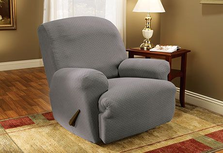 Sure Fit Slipcovers Stretch Subway Recliner Cover - Recliners