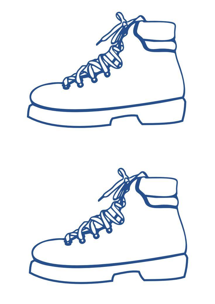 Рисование пальчиками «Раскрась ботинок»